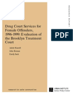 Drug Court Services for Female Offenders, 1996-1999 Evaluation of the Brooklyn Treatment Court