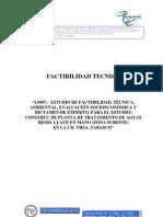 FACTIBILIDAD TECNICA Planta de Tratamiento Sureste