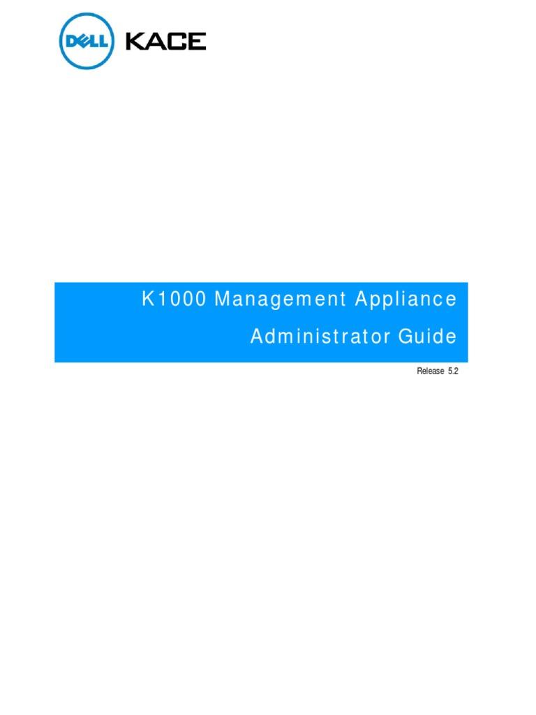 K1000_AdminGuide   Computing   Technology