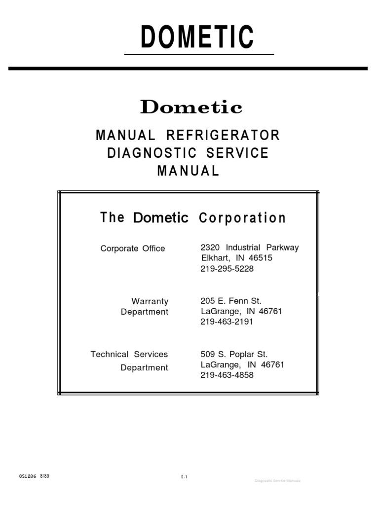 dometic manual refrigerator diagnostic service manual rh fr scribd com dometic service manuals 59516 dometic service manuals 59516