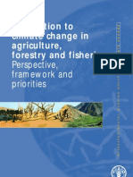 Adaptation to Climate Change in Agriculture, Forestry and Fisheries - Perspective, Framework and Priorities