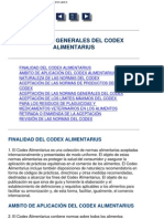 Codex Alimentarius Principios Generales
