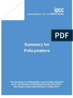 Intergovernmental Panel on Climate Change Summary for Policymakers