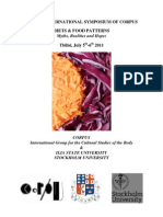 Diets and Food Patterns. 4th International Symposium of CORPUS