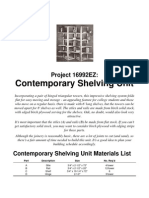 Classic Woodworking Plans - Modern Shelving Unit