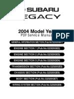 Subaru Legacy MY05-09 Service Manual Complete