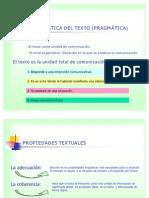 Las PROPIEDADES DEL TEXTO