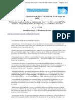Protocolo facultativo niños conflictos armados