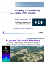 Tampering, Counterfeiting, and Other Pharma Security Issues