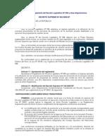 Reglamento DL 996