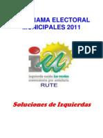 Programa Electoral Municipales 2011-15 IU Rute