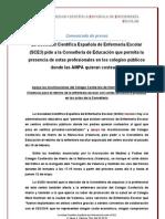 9_5_11_Comunicado de Prensa SCE3 Sobre Movilizaciones