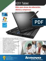 Especificaciones Tecnicas X201 Tablet 3113-92S