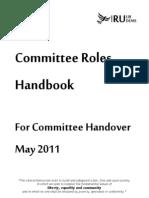 Committee Roles Handbook