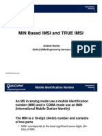 Issues of Min Based and True Imsi- Qc