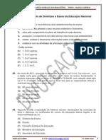 LDBEN - LEI DE DIRETRIZES E BASES DA EDUCAÇÃO NACIONAL - SIMULADO-2011