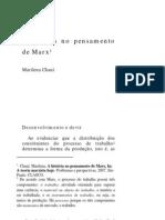 Marilena Chauí - A historia no pensamento de Marx