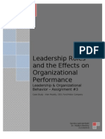 Leadership Role and the Effects on Organizational Performance