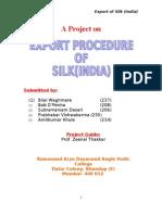 Export Procedure for SILK