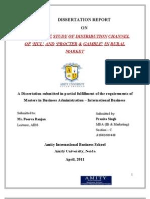 Dissertation Report  | Procter & Gamble | Retail