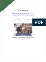 Export Marketing Manual 2007