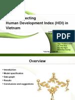 Factors Affecting Human Development Index (HDI) in Vietnam