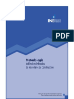 Metodologia Indice de Precios de Materiales de Construccion