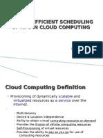 Scheduling of Hpc in Cloud Computing