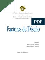 Consideraciones o Factores de Diseño
