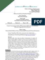 Cuatro Concepciones to Reforma Educativa Argentina Terigi