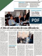 """""""Città e università devono difendersi"""" / Con """"Motus"""" verso l'utopia - Il Resto del Carlino del 10 maggio 2011"""