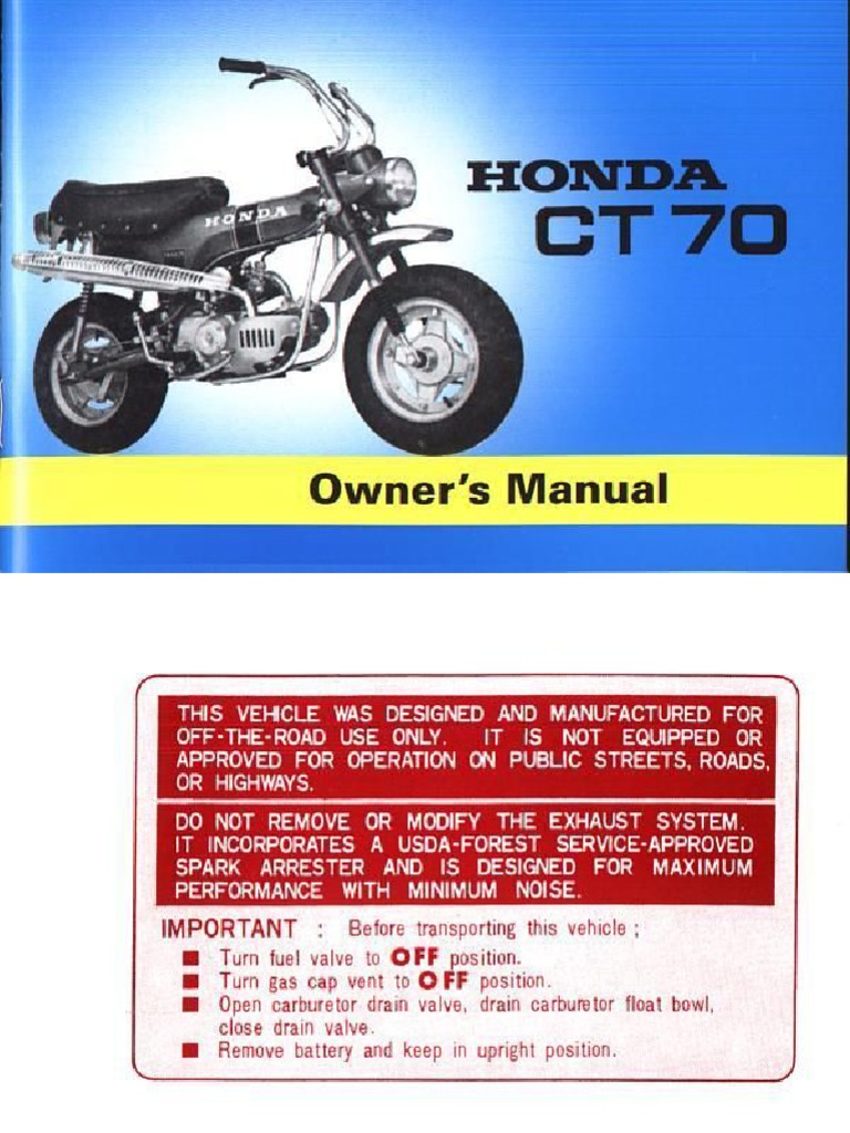 Honda Trail 70 Service Manual User Guide That Easy To Read 1970 Ct70 Parts Trail70 Ownersmanual Rh Scribd Com 90