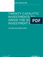 Twenty catalytic investments to grow the social investment market