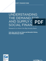 Understanding the demand for and supply of social finance