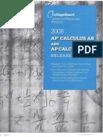 2008 Released AP Calculus BC&AB Exams