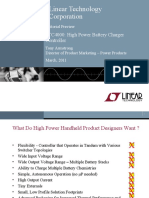 LTC4000 - High Voltage High Current Controller for Battery Charging and Power Management