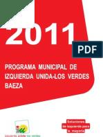 Programa Electoral IU Baeza