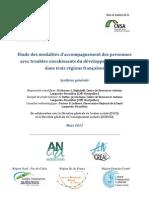 Synthese Etude Des Modalites d Accompagnement Des Avec Troubles Envahissants Du Developpement TED Dans Trois Regions Francaises Mars 2011