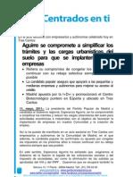Nota de prensa sobre la presentación del programa económico