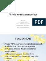 Aktiviti untuk pranombor