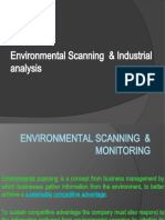 Environmental Scanning and Industrial Analysis