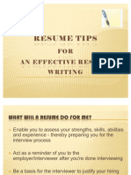 Resume Tips for Effective Resume Writing