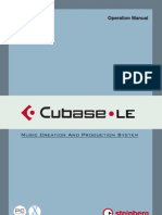 CubaseLE Operation Manual