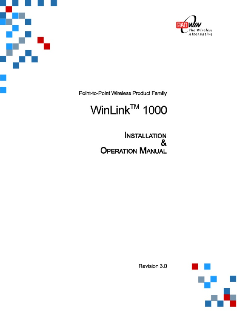 Win Link 1000 - User Manual | Electrical Connector | Proprietary