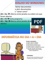 TECLAS DE ATALHOS