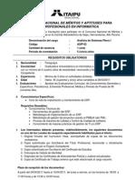 Requisitos Analista Sistemas Pleno I - 6