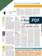Marco Respinti, «Capitalismo figlio del cattolicesimo», in «Il Tempo», Roma 01-05-2011