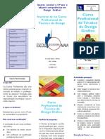 ESMAIA - Panfleto Curso Profissional Design Gráfico