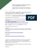 Adicionar Site Url Ou Blog No Google Yahoo Msn