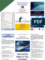 ESMAIA - Panfleto Curso Profissional Informatica de Gestao 2011